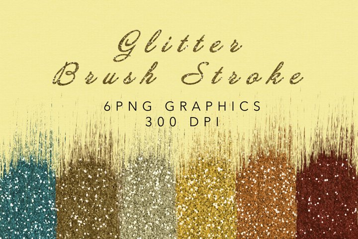 Glitter Brush Stroke