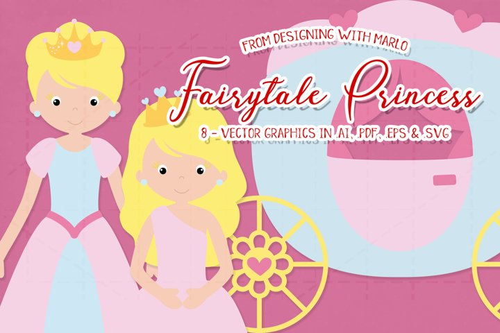 Fairytale Princess Vector Graphics