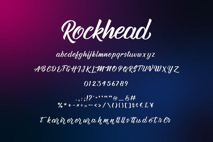 Rockhead script - Free Font of The Week Design3