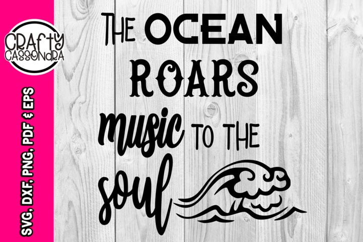 The ocean roars music to the soul