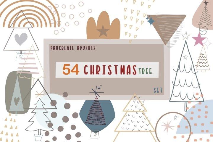 Procreate Brushes 54 Christmas Tree Set-Brush Stamps-Brushes