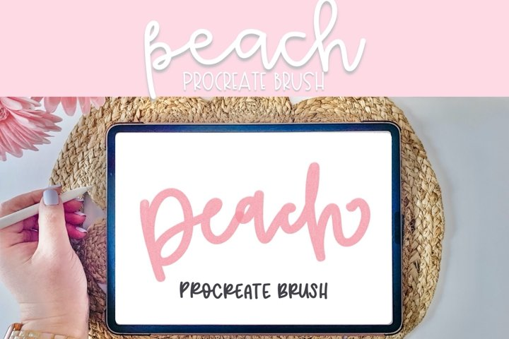 Peach Procreate Brush | Procreate