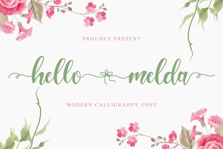 Hello Melda - Beautiful Script Font