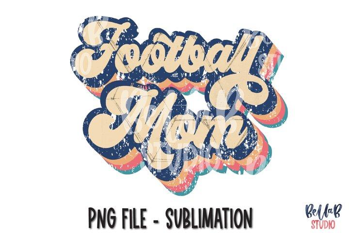 Retro Football Mom Sublimation Design