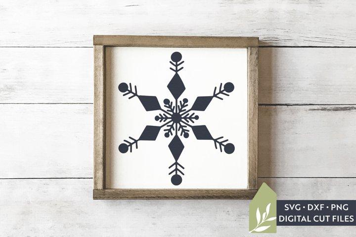 Snowflake SVG Files, Farmhouse Christmas SVG