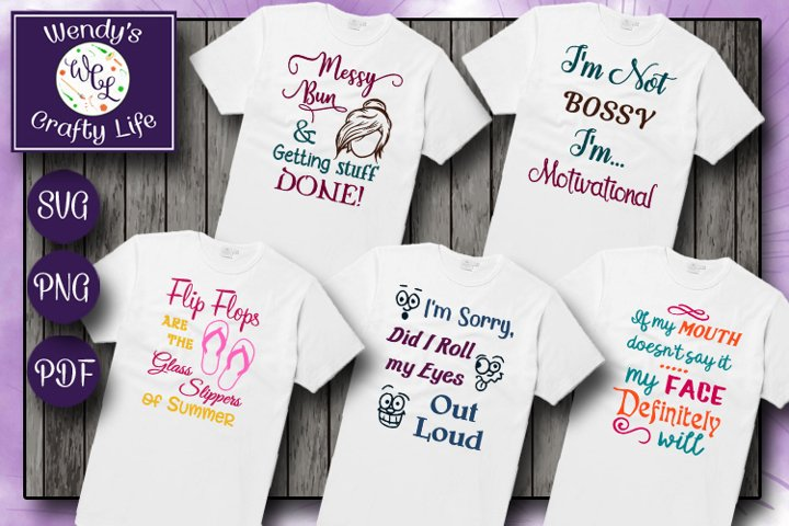 Fun Five tshirt designs - file formats SVG, PNG & PDF