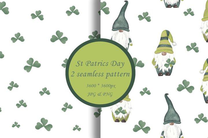 St Patrics day gnome seamless pattern Gnome digital paper
