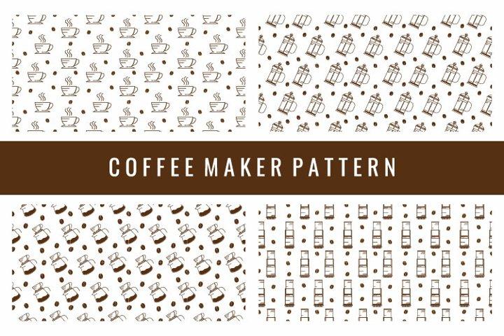 Coffee Maker Seamless Pattern