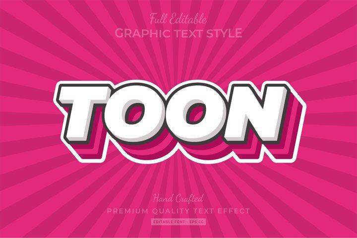 Cartoon Comic Editable 3D Text Style Effect Premium