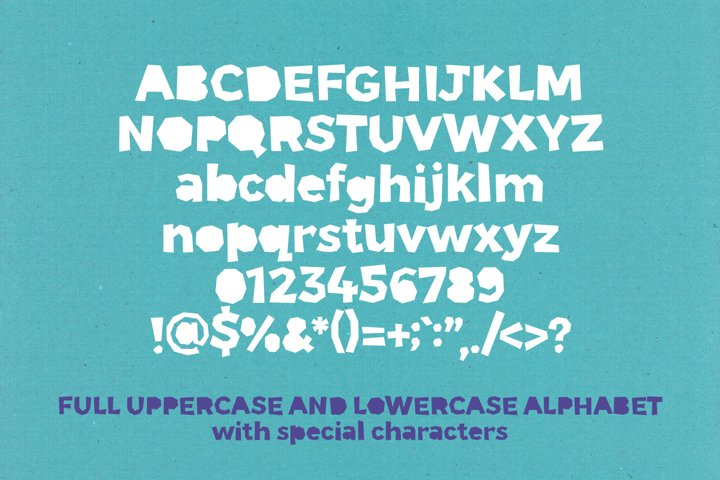 Paper Phil - a papercut craft style font example 1