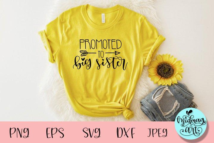 Promoted to big sister svg, sister shirt svg
