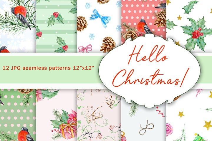 Winter seamless patterns , christmas seamless patterns