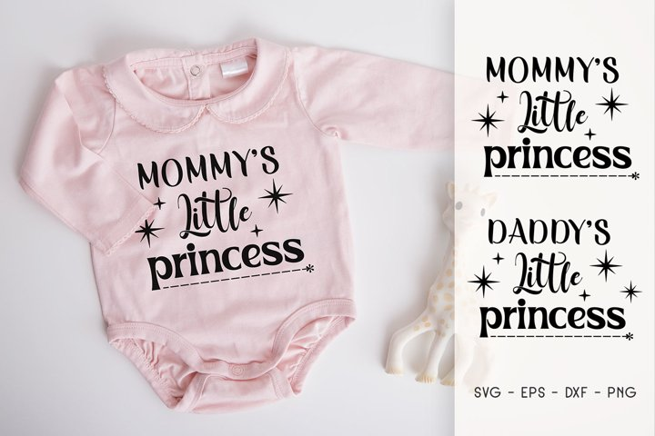 Mommys Little Princess - Daddys Little Princess SVG