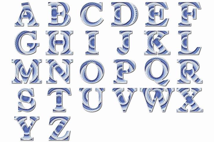 A-Z Alphabet Letters, Layered Letters SVG, Cut File Mandala