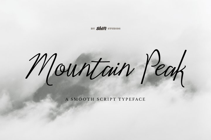 Mountain Peak Typeface