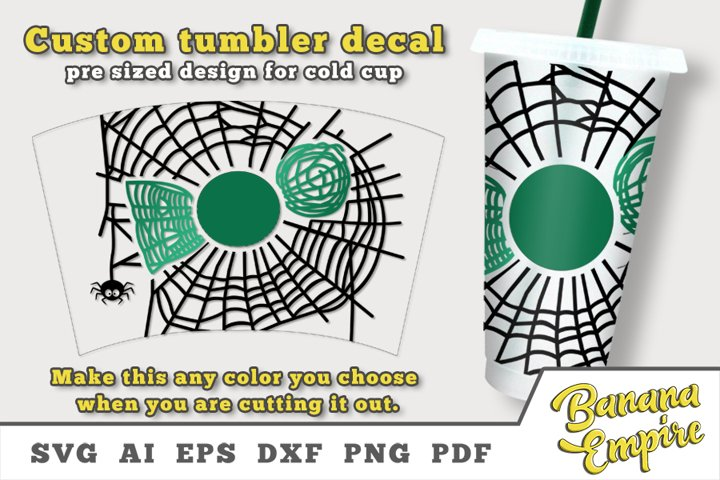 Halloween cold cup decal svg, Halloween personalize Tumbler