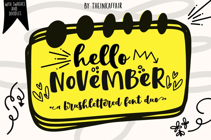 Hello November   Script and Sans font duo
