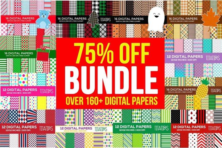 Over 160 Seasonal Digital Papers BUNDLE