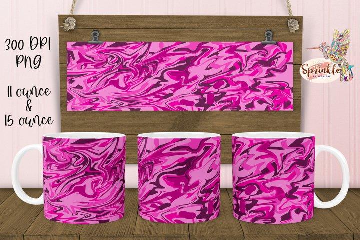 Pink Liquid Mug Sublimation - Sublimation Mug Designs