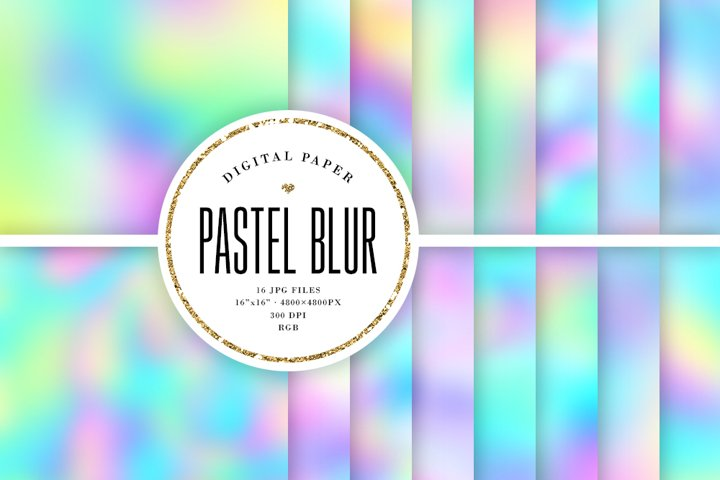 Pastel Blur Backgrounds - Pretty Digital Papers