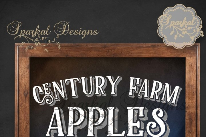 Century Farms Apples Cutting Stencil