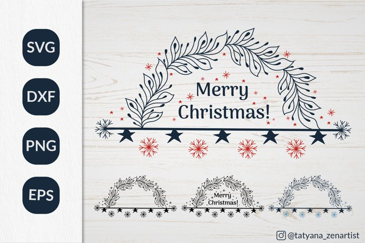 Christmas Wreath SVG graphic, Winter graphic SVG