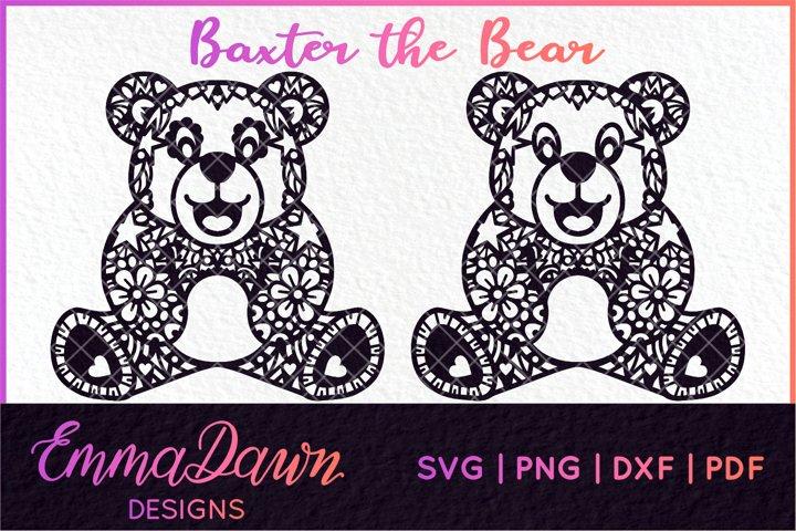 BAXTER THE BEAR MANDALA / ZENTANGLE DESIGN