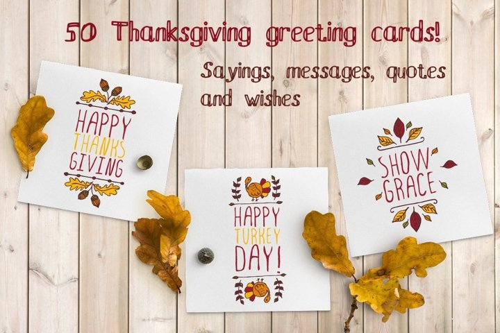 50 Thanksgiving greeting cards | SVG EPS AI PSD PNG JPEG