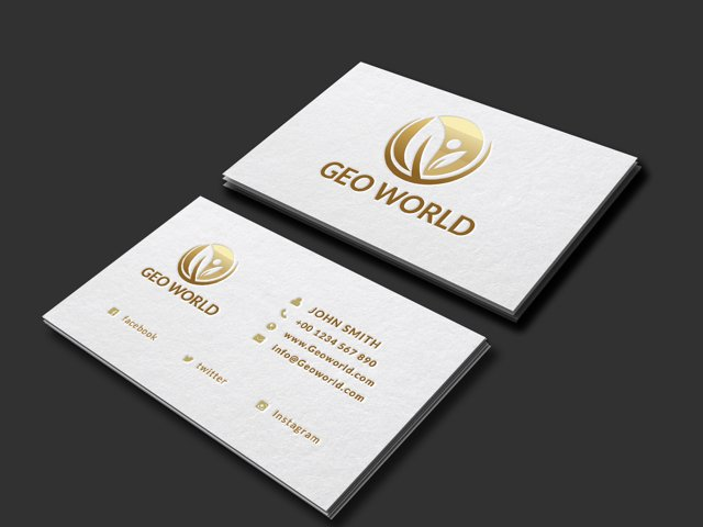 Minimalistic Golden Business card