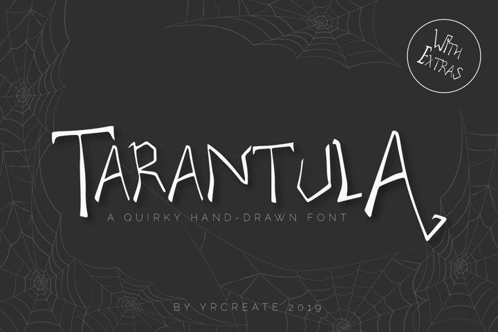 Tarantula | Spooky Creature Display Font