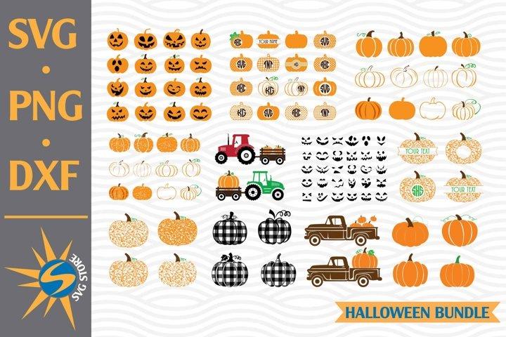 Pumpkin Bundle Design SVG, PNG, DXF Digital Files Include