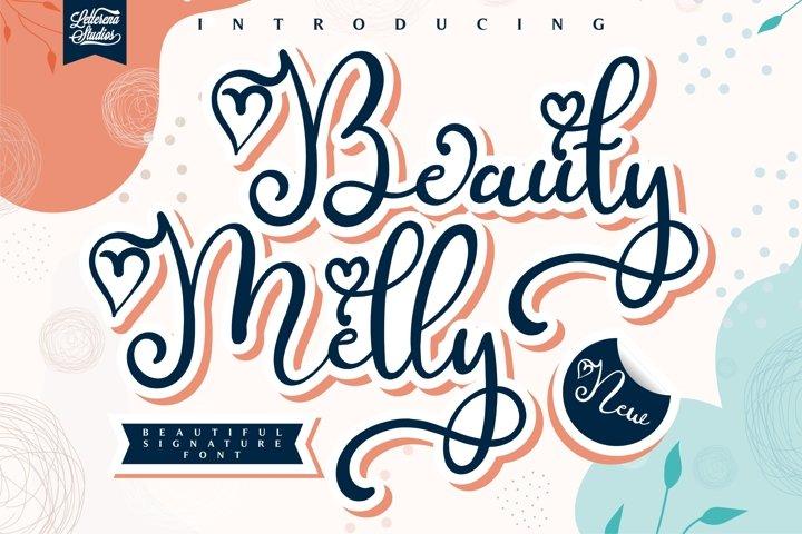 Melly Beauty - Beautiful Script Font