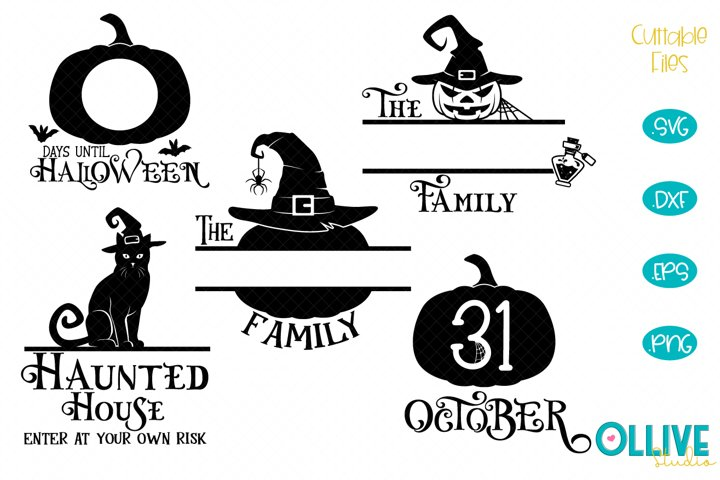 Halloween Porch Sing, Halloween Family Name SVG Bundle