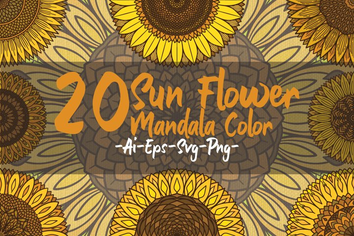 Sunflower mandalas color
