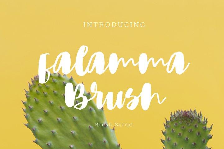 Falamma brush Script