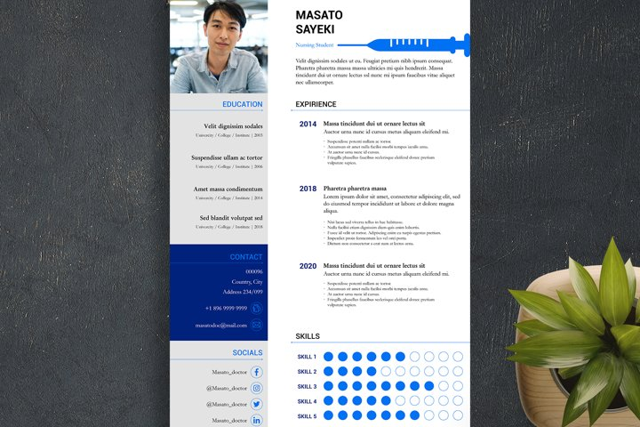 2 Nursing Indesign Resume Templates
