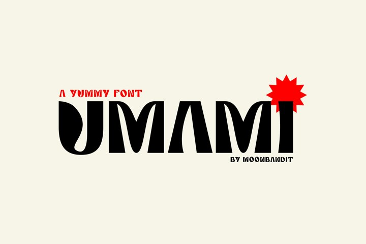 Umami - A Delicious typeface