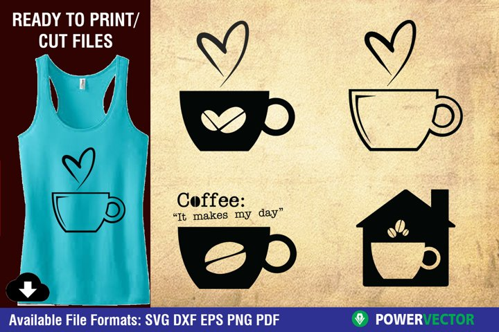 Coffee SVG cutting files for Crafters