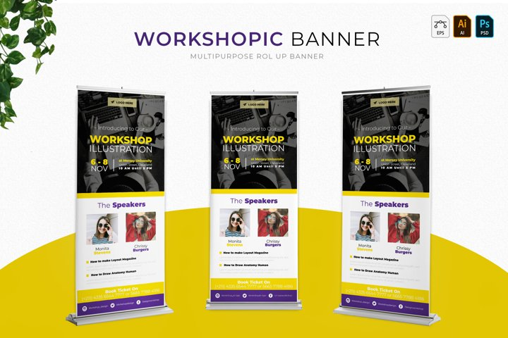 Workshopic   Roll Up Banner