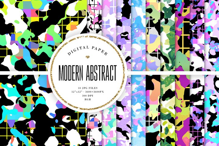 Abstract Shapes Backgrounds - Modern Digital Paper