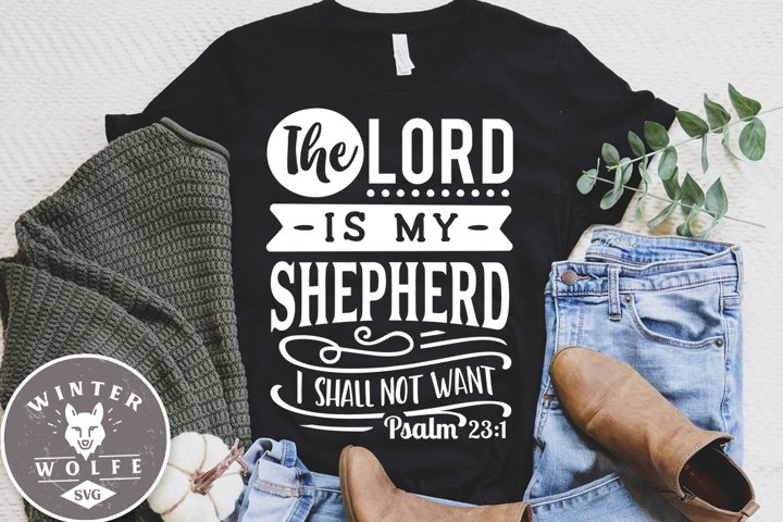 The Lord is my Shepherd I shall not want SVG EPS DXF PNG