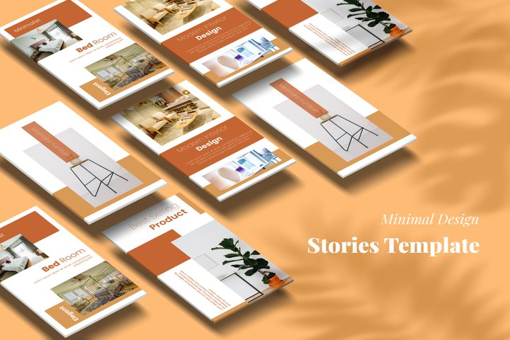 Interior design social media stories template