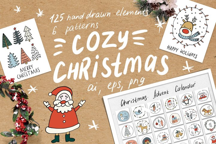 Cozy Christmas Clipart