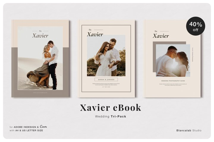 Xavier Wedding Pack | INDD, CANVA