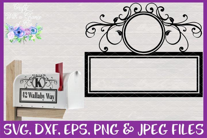 Mailbox Address Monogram SVG - Flourish Laser Cut Design