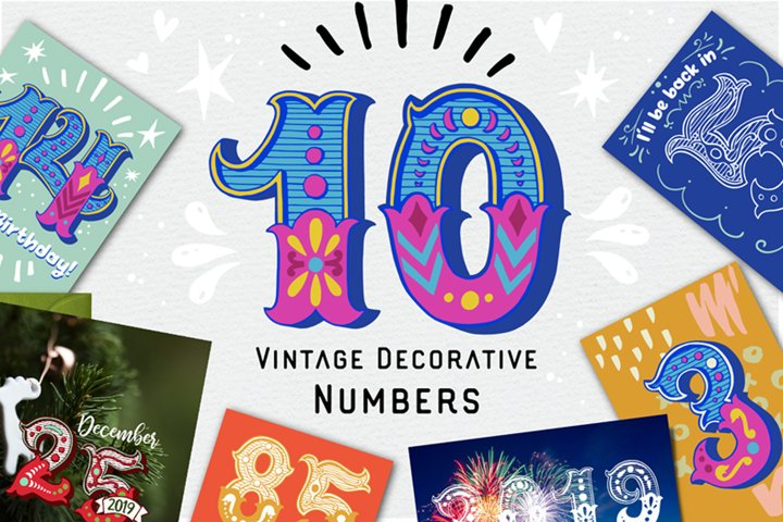 Vintage Decorative Numbers