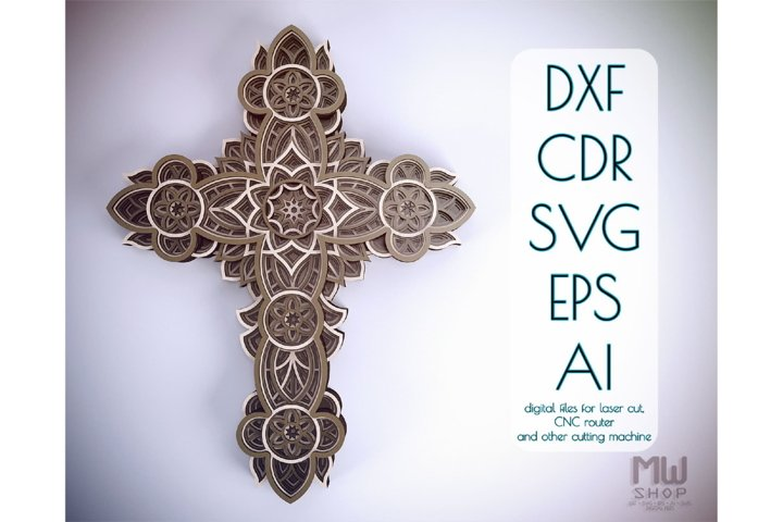 Cr12 - Christian Cross, Laser cut Cross, Cricut Cross SVG