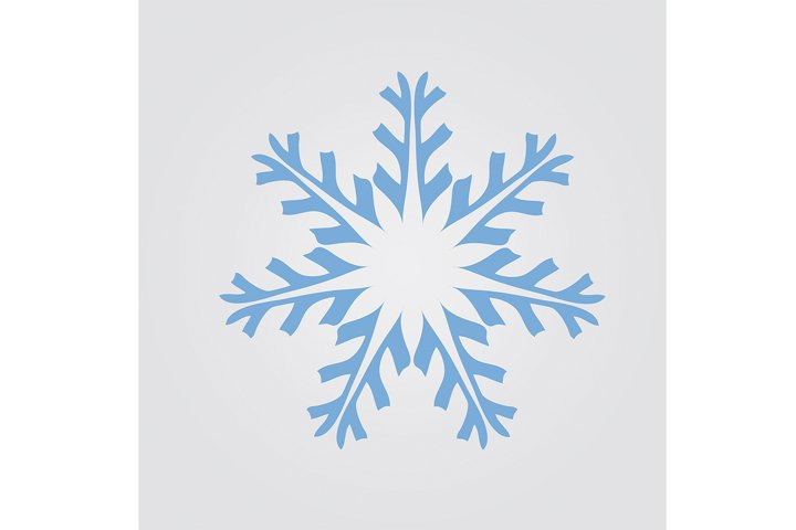 Snowflake on a grey background.