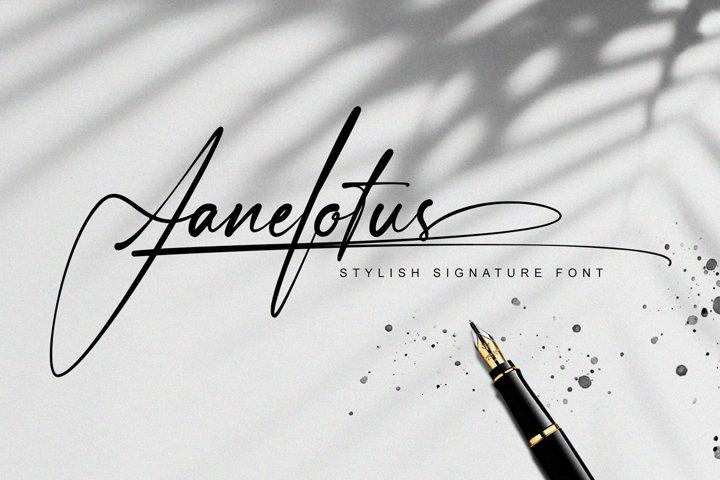 Janelotus - Signature Font