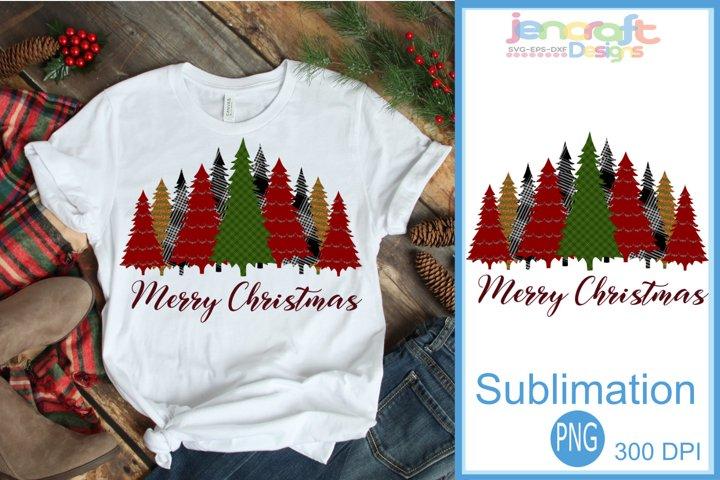 Buffalo Plaid Merry Christmas Tree Leopard print Sublimation